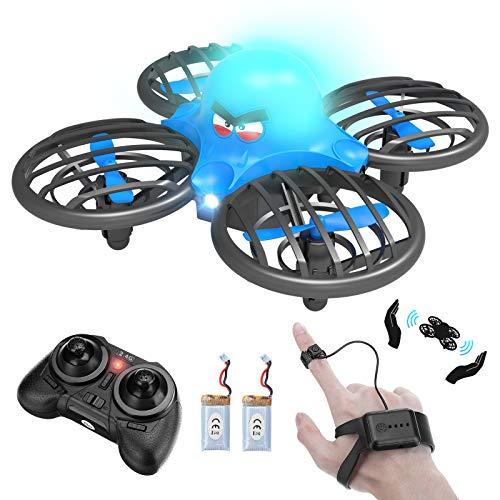 FLYHAL F111 Mini Drohne für Kinder Handgesteuerter Induktionsmodus Drohne Gestensteuerung UFO RC Quadcopter mit Schwerkraftsensor-Fernbedienung