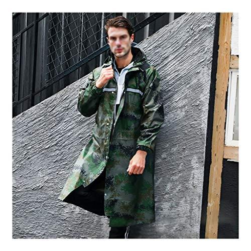 Premium Regenponcho mit Reflektierende Streifen - Optimal für E-Bikes und Moped - Fahrrad Poncho Wasserdicht mit Reißverschluss - Herren Damen und Herren Regenschutz - Hochwertige Regenbekleidung -AA