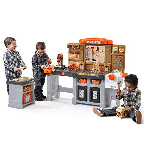 Step2 Pro Play Workshop & Utility Bench | Kids Pretend Play Workbench & Tools Set