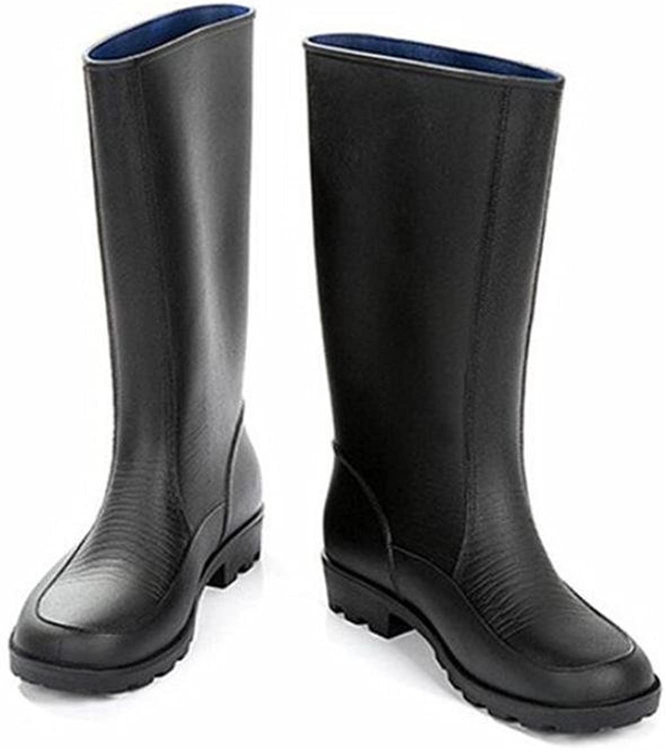 Men's Tall Rain Boots Labor Insurance Car Wash Overshoes Fishing Rubber High Boots