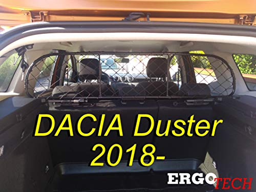 ERGOTECH Trennnetz Trenngitter Dacia Duster RDA65-S14, für Hunde und Gepäck. Sicher, komfortabel für Ihren Hund, garantiert!
