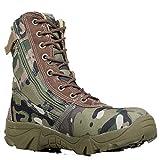 TH&Meoostny Zapatillas de Senderismo de Arranque Militares Botas de ejército táctico Zapatos de Senderismo al Aire Libre Nátiles Slip Slip Slip Zapatos de montaña Green 39