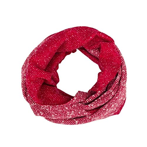 Soft Circle Scarf, Reversible, Women, Girl, Unisex, Wool, Red, White, Strawberry, Dots, One size