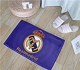 QNNN Alfombrilla de fútbol Real Madrid Alfombrilla Alfombrilla de Entrada Hall de Entrada Alfombrilla Alfombra baño Antideslizante Alfombrilla Absorbente de Agua Alfombrilla-UNA_60 * 90