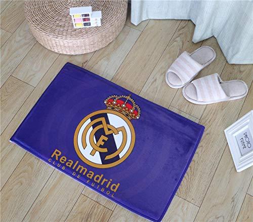 QNNN Alfombrilla de fútbol Real Madrid Alfombrilla Alfombrilla de Entrada Hall de...