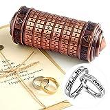 TUPARKA 5Pcs Da Vinci Code Mini Cryptex Puzzle Boxes Valentine's Day Interesting Creative Secret Box Romantic Birthday for Her Women (Red Bronze Color)