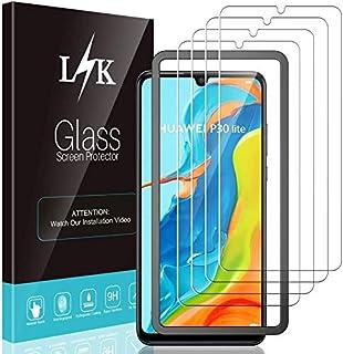 LϟK 4 Pack Protector de Pantalla Compatible con Huawei P30 Lite - Cristal Vidrio Templado - Dureza 9H Sin Burbujas Funda C...