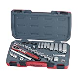Teng Tools 39 Piece 3/8 Inch Drive 6 Point Metric Regular/Shallow & Deep Socket Set - T3839