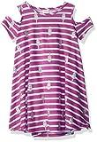 Gymboree Girls' Little Cold Shoulder Knit Dress, Fuchsia Stripe, M