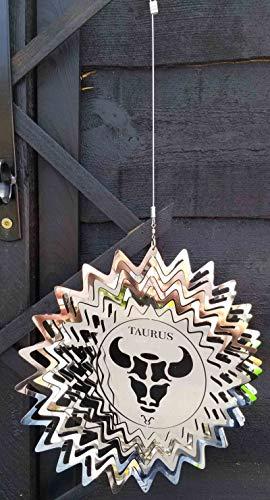 Winddekoration aus Edelstahl - Sternzeichen - Stier