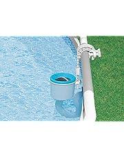 Intex Deluxe Einhängeskimmer für Intex Pools, Großer Filterkorb Ø 16 cm, Anschluss Ø 40 mm