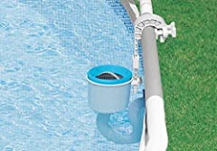 Intex Deluxe Wall Mount Surface Skimmer Help catch leaves and debris before they sink to the bottom of the pool with the Intex Deluxe Wall Mount Surface Skimmer. The skimmer easily mounts to Easy Set or metal frame pool sidewalls with an adjustable b...