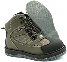 Lurewilder Men's Wading Boots Felt Sole for Fly Fishing Felt Outsole Wading Shoes Fly Fishing Footwear Wading Boots for Men (US 10)