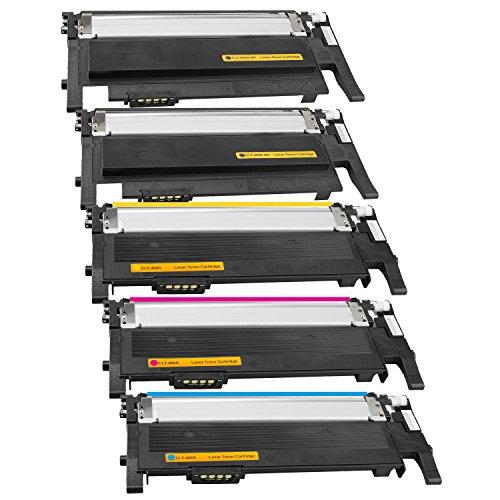 Tito-Express PlatinumSerie 5X Toner-Patrone XXL passend zu Samsung CLT-406 CLP-360 CLX-3300 3305 3305FN 3305FW 3305W CLP-360N 360ND 365 365W Xpress C410W C460FW SL-C460W C467W