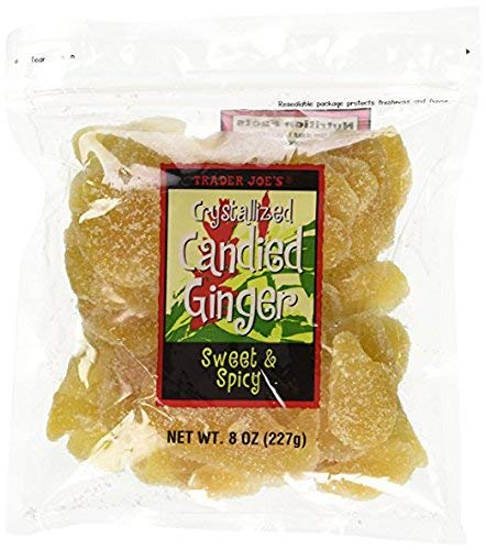 3 Packs Trader Joe's Crystallized Candied Ginger Sweet & Spicy