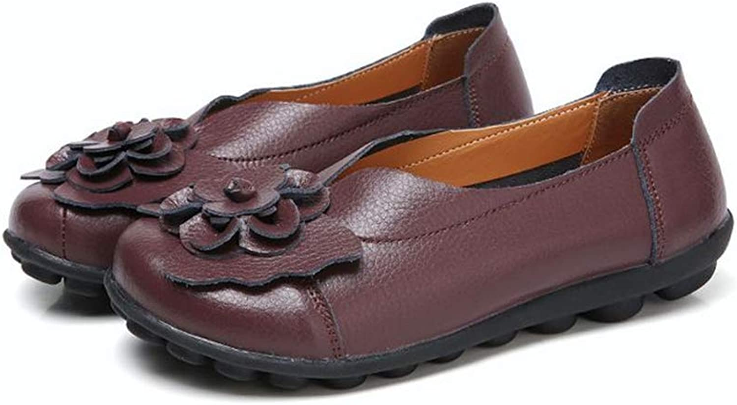MOREMOO Women Real Leather shoes Moccasins Mother Loafers Soft Leisure Flats Driving Casual Footwear