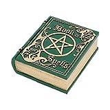 Nemesis Now Libro de hechizos verde 15,5 cm, resina, talla única