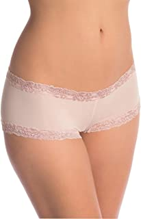 Natori Women's Double Lace Trim Boyshort Panty