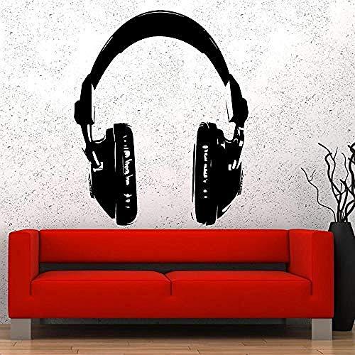 Wandaufkleber und Wandbilder Musik Kopfhörer Wandaufkleber Kopfhörer ck Pop ant Wandmusik Studio Lustige Wandkunst Dekoration 56x69 cm