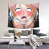 Wall Art Wall Hanging Ahegao Anime Sex Face Orgasm Tapestry Wall Dorm Decor for Living Room Bedroom Decoration 60'x 51'