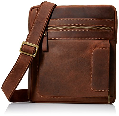 Visconti Owen Distressed Leather Messenger bolso bandolera bolso de mano