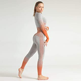 Home Devices Accessories Yoga Pants Womens Leggings Gym Suit Color-Matching Sports Tights High Waist Comfortable Not Easy to Pilling Not Easy to Crack Hips