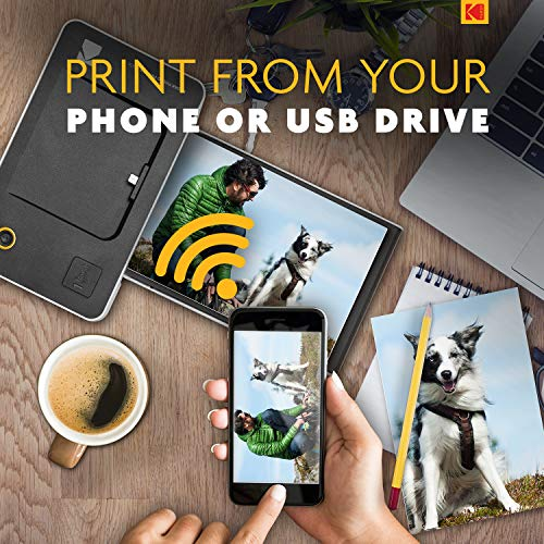 """Kodak Dock & Wi-Fi Portable 4x6"""" Instant Photo Printer, Premium Quality Full Color Prints - Compatible w/iOS & Android Devices"""
