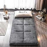 PLOLLD Futón Colchón, Plegable Tatami Estera del Piso Portable el Dormir del colchón de Camping Niños Pad Japonesa Piso colchón sofá Cama (Color : E, Size : Twin-90×200cm)