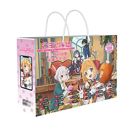 JINGXINA Re: Serie de Buceo/Periferia de Anime/Juego de Caja de Regalo de Anime/con póster/Postal/Pegatina/Marcador/Tarjeta de felicitación/Insignia de Metal/Juego de colección, etc.