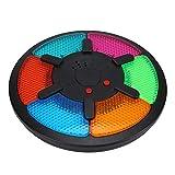 Juego de entrenamiento de memoria, juego de mesa de seis paneles Brain Teaser Interacción plástica Juego de memoria electrónica inteligente con luz musical para niños niñas