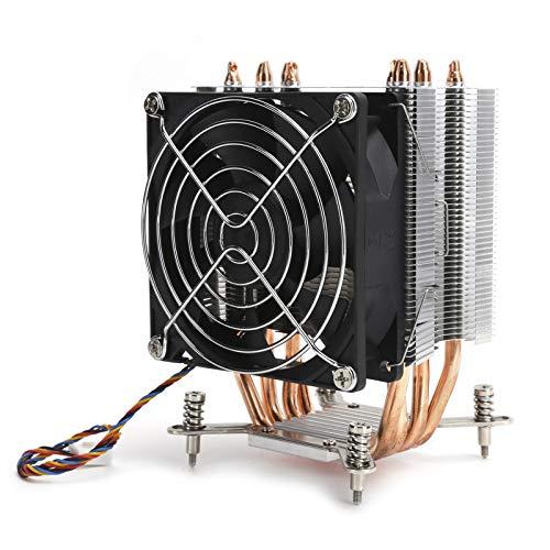9cm Mini Ventilador de Refrigeración Potente para CPU para LG-A2011 1151 1155 1366 1156, 9 x 9 x 2,5 cm Enfriador de Aleación de Alumnio para Disipación Rápida para CPU para PC