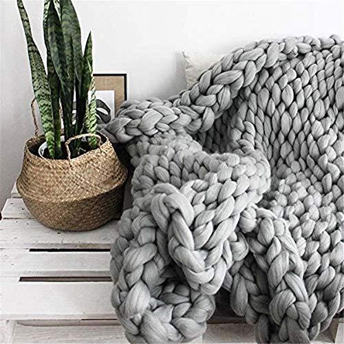 DMGY UPER BRILKKY Brazo Punto de Tejer ROVING Manta de Punto Manta de Lana Gruesa Hilado Súper Grueso para Tejer/Crochet/Alfombra/Sombreros,150 * 150cm