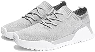 LaBiTi Men's Trail Running Shoes Lightweight Breathable Shockproof Athletic Casual Mesh Walking Shoes