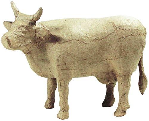 Decopatch SA727O Kuh aus Pappmaché, 18,5 x 6,5 x 15 cm, zum Verzieren, neues Design, Kartonbraun