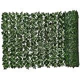 Siepe artificiale Green Leaf simulato Ivy recinto privacy parete pianta simulata Sfondo Erba decorativo per esterna del giardino Balcone 0.5x3m, Siepe artificiale