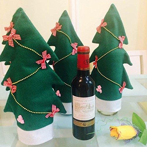 Inovey Baum Flasche Dekoration Glasflasche Weihnachten Wein - Weihnachtsbaum