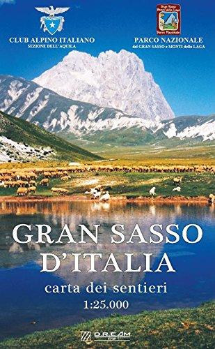 Gran Sasso d'Italia. Carta dei sentieri. Scala 1:25.000