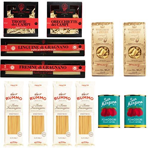 Pasta Genuss Box | Premium Qualität aus Italien | Spaghetti, Trofie, Orecchiette, Fresine,...