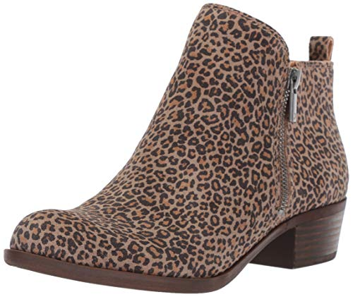 Lucky Brand Women's Basel Ankle Bootie, Eyelash, 7.5 Wide