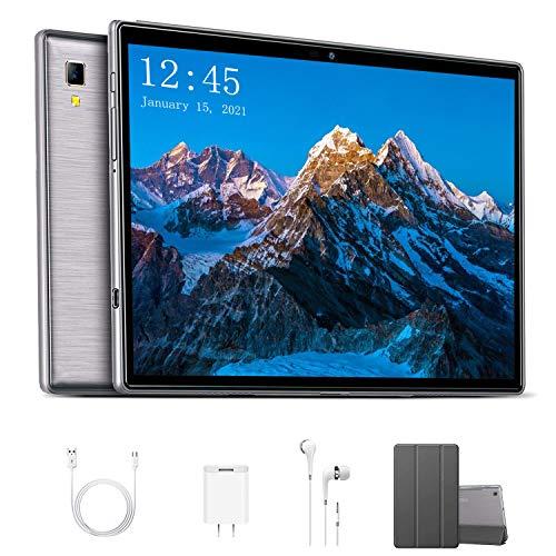 Octa Core 2.3 GHz Ultrar-Rápido Tablet para Juegos 10 Pulgadas 4G LTE Android 9.0 Pie【2020 Certificación Google GMS】 4GB RAM+64GB ROM/256GB Escalable Dual SIM 8000mAh GPS Type-C 5.0+8.0MP -Gris