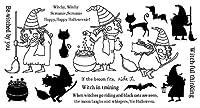CLEAR STAMPS Witchy DIY ScrapbookCardアルバムペーパークラフトシリコンラバーローラー透明スタンプA571
