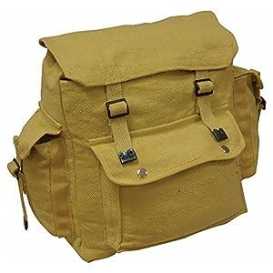Zip Zap Zooom - Mochila para hombre, lona, diseño militar, color beige 12