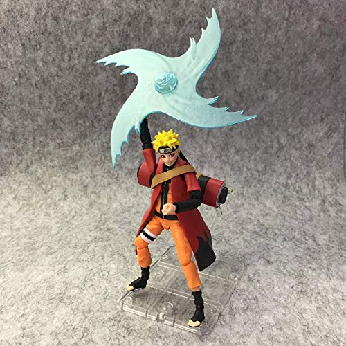 DLRYBHSD Naruto: Uzumaki Naruto Futon/Helix Shuriken Battle Scene Estatua Modelo De Personaje De Anime Figura Anime Favorito De Los Amantes del Anime/Juguetes para Adultos/Coleccionables/Decor