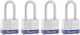 Master Lock Padlock, Laminated Steel Lock, 1-9/16 in. Wide, 3QLF (Pack of 4-Keyed Alike)