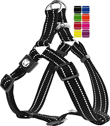 DDOXX Arnés Perro Step-In Nylon, Reflectante, Ajustable | M