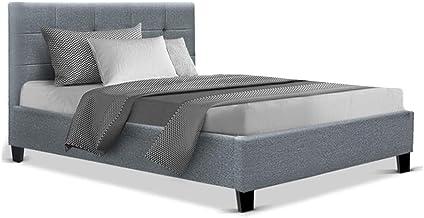 Artiss King Single Size Bed Frame Base Mattress Platform Grey Fabric Wooden SOHO