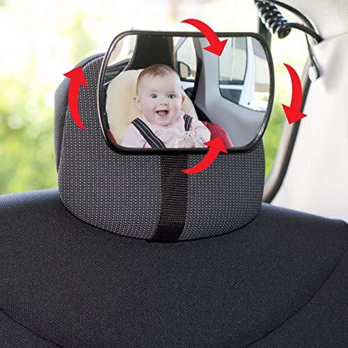 Sumex Rétroviseur 3 en 1 réglable à 360 ° pour bébé, Compatible avec Les sièges et Le Pare-Brise