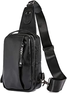Bageek Mens Crossbody Bag Chest Bag Multi Purpose Sling Bag Sling Backpack for Outdoor