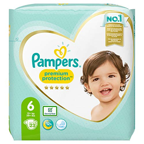 Pampers Premium Protection Größe 6, 23 Windeln, 13kg+