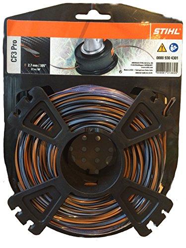 Stihl 00009304301 Fil de coupe cruciforme avec partie carbone, 00009304301
